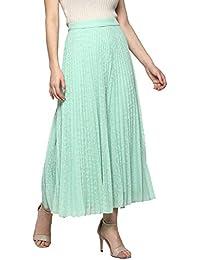 Ritu Kumar Cotton a-line Skirt (SKRP-GGT-DOT00N17087999_Mint_Small)