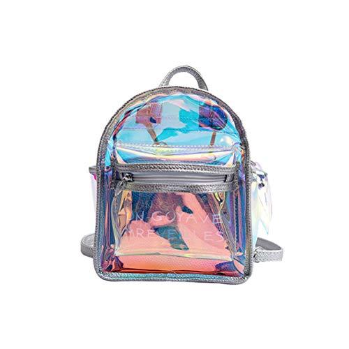 FENICAL Elegante mochila holográfica transparente