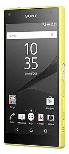 Sony Xperia Z5 Compact - Smartphone de 4 6   Bluetooth  WiFi  Octa Core MSM8994 Snapdragon 810  2 GB de RAM  32 GB  Android 5 1 1  color amarillo