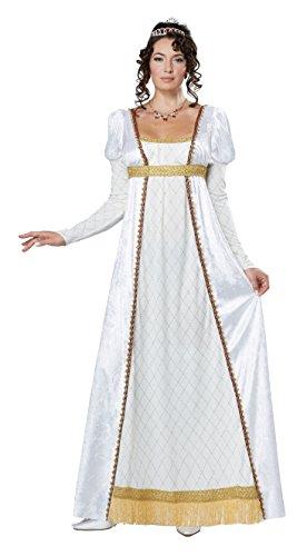 California Costumes Women's Josephine French Empress Costume, White/Gold, Large (White Empress)