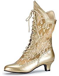 41b195a09730 Higher-Heels Funtasma Kostüm-Stiefeletten Dame-115 Stiefel mit Spitze und  hoher Schnürung