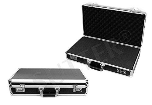 Valigia AL-820 / Custodia dure in Alluminio per Fucili, Pistole, Armi | 620 x 360 x 138 mm | Valigetta di trasporto rigida