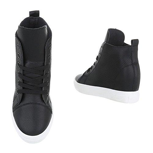 Ital-design Pantoufles Noires Pour Femme