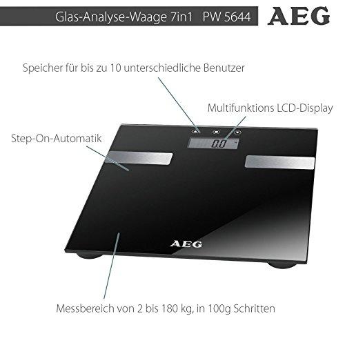 AEG PW Personenwaage – Glas 7 in 1 - 3