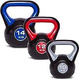 C.P.Sports Kettlebell Kugelhantel Vinyl Handgewicht Gymnastik, Kettle Bell, Kettlebells, Schwunghantel 2kg 3kg 4kg 5kg 6kg 8kg 10kg 12kg 14kg 16kg...