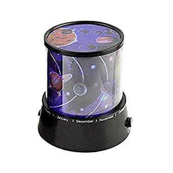 BonZeal Projection Based on Solar System ABS Universe Night Lamp With Adapter - (Black, 0.5Watt, Sky Star Night Lamp)