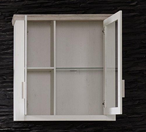 furnline Wohnzimmer Kiefer Struktur Decor Wohnwand, Eiche San Remo, weiß, Set von 3 - 2