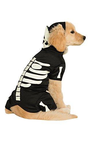 Offizielles Rubie 's Skelett Kapuzenpullover Pet Hunde Halloween (Hunde Für Kostüme Amazon)