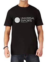 Premium James Bond 007 Universal Exports Mens Black Printed T-shirt