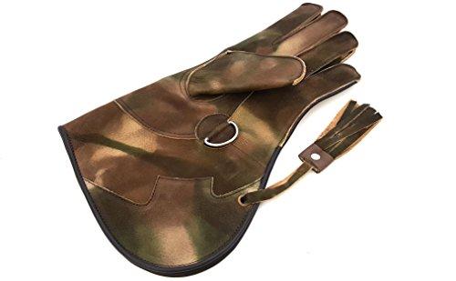 Para hombre de alta calidad de doble capa Cetrería/Bird Guantes de manejo/Pet Guantes sin dedos de piel suave.