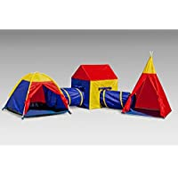 Boys Girls Large Giant Play Tent Tunnel Set Childrens Kids Pop Up Indoor Outdoor