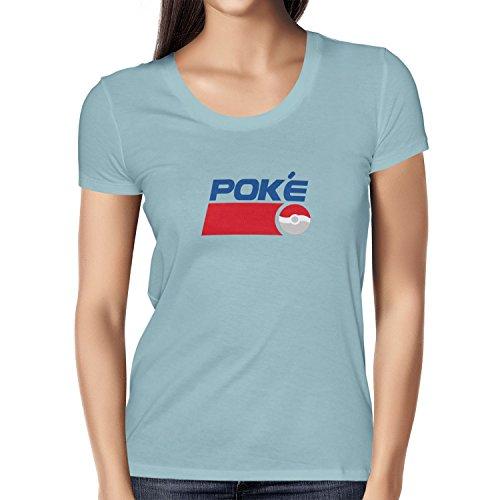 TEXLAB - Poke Soft Drink - Damen T-Shirt, Größe XL, (Pepsi Mann Kostüm)