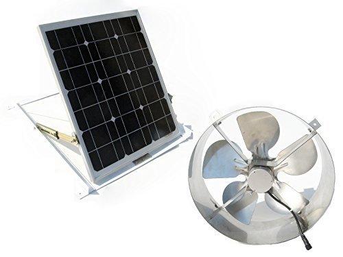 DCHOUSE 25w Solar Power Attic Vent Gable Roof Ventilator Fan with 29w Panel