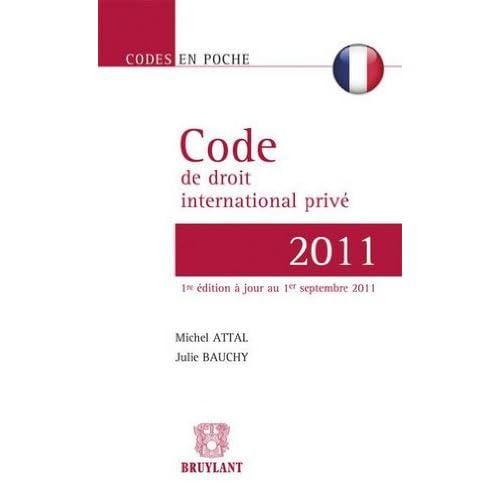 Code de droit international privé français 2011