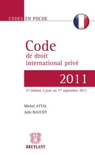 Code de droit international privé français par Michel Attal