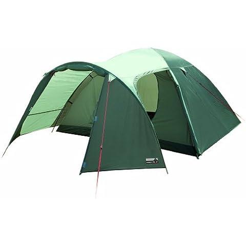 High Peak Kira 4 - Tienda de campaña para 4 personas, color verde oscuro / verde claro - 130 210 x240x130