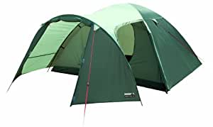 """HIGH PEAK 10087 Tente dme avec porte auvent """"Kira 3"""" vert olive fonc/clair"""
