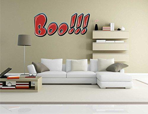 Wandtattoo Comic 055 – Lustiges Motiv Boo!!! – Wandaufkleber