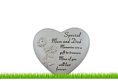 Grab Friedhof Herz mit Blumen Ornament spezielle Loved Beerdigung