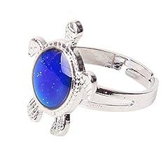 Idea Regalo - anello di emozione - TOOGOO(R) Tartaruga della colore Cambiare di umore regolabile della anello