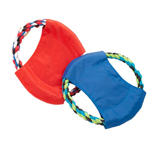 "Fully 2x Hundespielzeug Ball Frisbee Hundeball Hundespielball Frisbeescheibe Kauspielzeug Disc (Farbe zufällig) (Durchmesser: 22cm/8.66"", zufällig)"