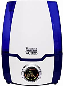 Homefront Pro-Series Digital Display Ultrasonic Cool Mist Humidifier With 4 Mist Settings