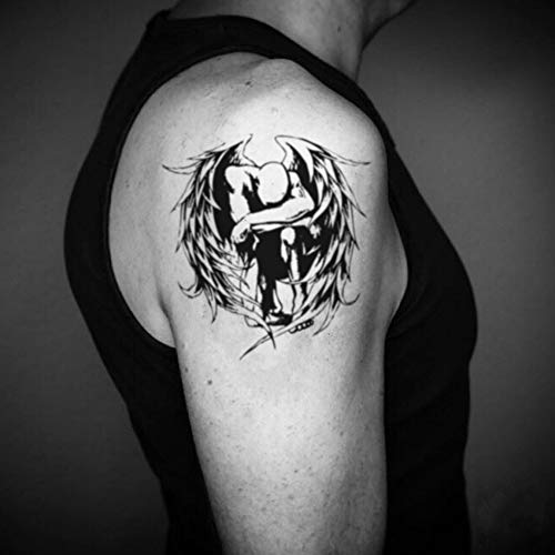 Tatuaggio temporaneo angel de la guarda (2 pezzi) - www.ohmytat.com