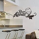 fancjj Französische küche Vinyl wandaufkleber Applique Art weinglas Bon Appetit tapete küche...
