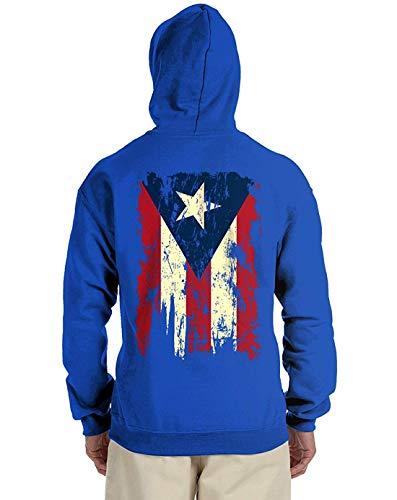 Artpower Vintage Distressed Puerto Rico Flag Back Print Men's Hooded Sweatshirt -