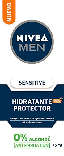 Nivea Crema Idratante, Men Sensitive Protector Idratante, 75 ml