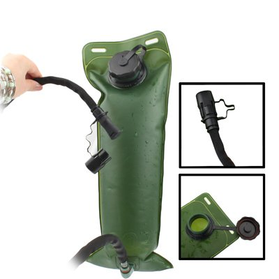 3L Trink-Wasser-Beutel mit Schlauch / Trinkschlauch für Outdoor Wandern Camping in Armee-Grün / Outdoor Hiking Camping Army Green 3L Water Bag with Tube