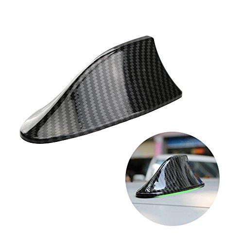 Auto Shark Antenne Roof Spolier - Automan Carbon Fiber Auto Karosserie-Anbauteile Antennen Nicht echte Antenne nur zur Dekoration (Groß)
