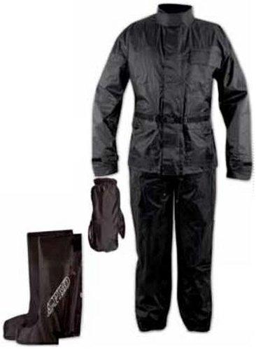 Ganzkörper Wasserdicht Regenanzug Handschuhe Stiefel Motorradkombi Schwarz 3XL