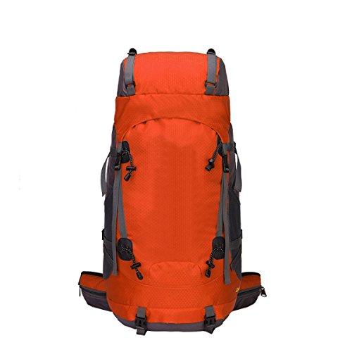 L'alpinismo Esterno Dello Zaino Sacchetto Di Nylon Impermeabile 60 Litri Dimensioni: 33cm * 26cm * 70cm,Black Yellow