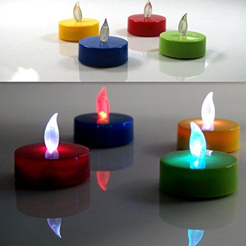 (206) 4–Velas LED XXL TRUYOO Cambia eléctrica velas vela