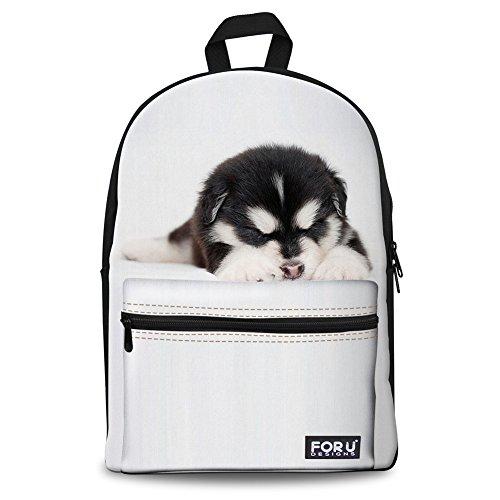 Injersdesigns Unisex 3D nette Katze / Hund Muster Daypack Rucksack Jungen-Mädchen-beiläufige Schule-Beutel-Rucksack-Karikatur-Muster-Schulter-Beutel Ideal für Schule und Reisen