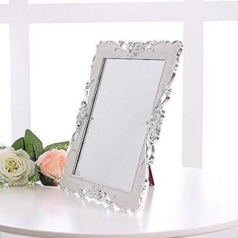 HD europea trucco spogliatoio specchio Desktop Mirror pieghevole principessa Specchio Specchio Matrimonio Grande semplice specchio di bellezza - Principessa Pieghevole Tavolo