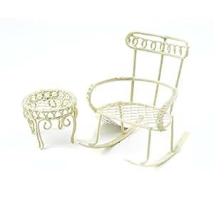 Mini sedia a dondolo w round table 2pc set sedia da for Sedia a dondolo nursery