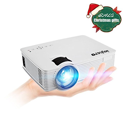 HD Heimkino Projektor Joyhero® GP-9 Mini Beamer 2000 Lumen 1920 x 1080P für Multimedia, Fire TV, Filmabend. Party, Heimkino, Xbox One, PS4 (Farbe: Weiss)