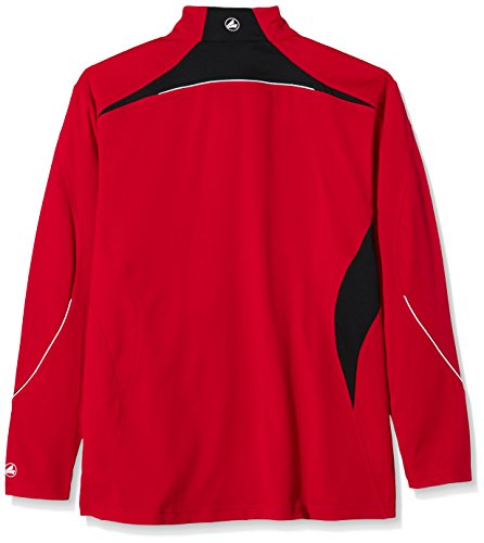 JAKO, Felpa Uomo Ziptop Competition Rosso  (Rot/Schwarz)