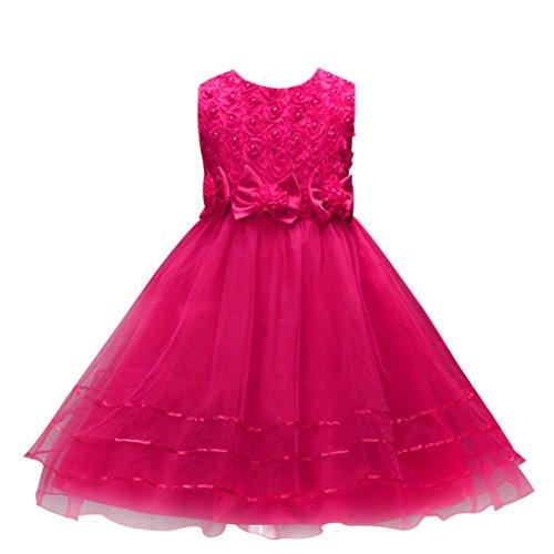 Kleine Prinzessin Pageant (Hochzeit Kleid , Kobay Blume Mädchen-Prinzessin Brautjungfer Pageant Tutu Tüll Kleid Party)