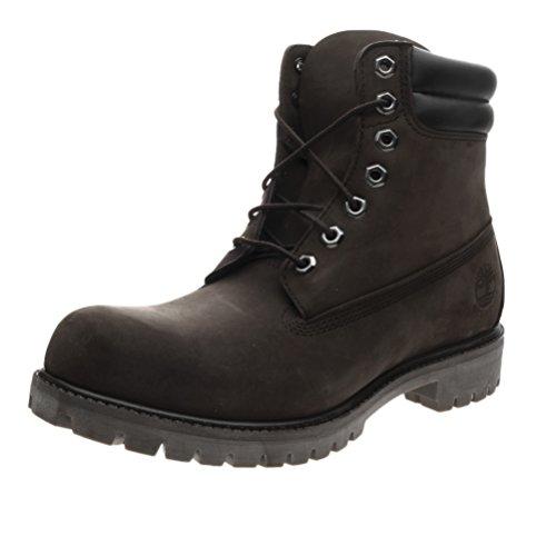 Timberland Mens Premium Double Sole Waterproof Construction Work Boot Double Collar  11 W  Dark Brown
