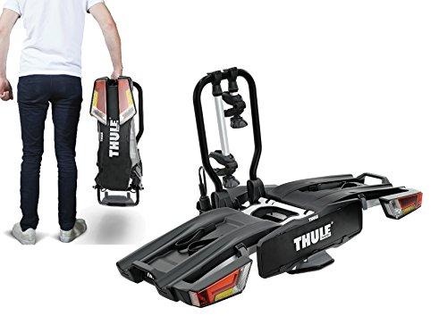 Thule, EasyFold 2 Bike XT, portabici per 2bici, da montare su gancio di traino a sfera, pieghevole, codice 933