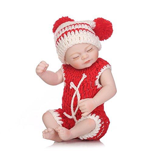 lquide Wiedergeborene Babypuppen 10 Zoll 26 cm Real Girl Weiche Silikon Vinyl Reborn Kleinkind dchen Realistische Lebensecht Aussehende Neugeborene Puppen Baby dchen Spielzeug (Girl Real Puppe)