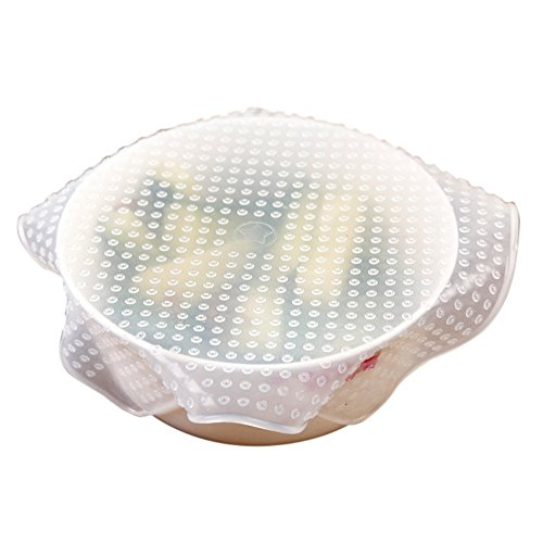 XIYAO4 Stücke Lebensmittel Fresh Keeping Silikon Wiederverwendbare Lebensmittel Wrap Seal Cover Dehnen