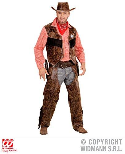 KOSTÜM - COWBOY - braun, Größe 54 (XL), Wilder Westen Indianer Revolverheld Rodeo Reiter (Kostüme Indianer Und Cowboy)
