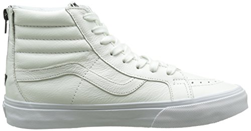 Vans Sk8-hi Reissue Zip Unisex-Erwachsene Sneaker Weiß (premium Leather/true White/black)
