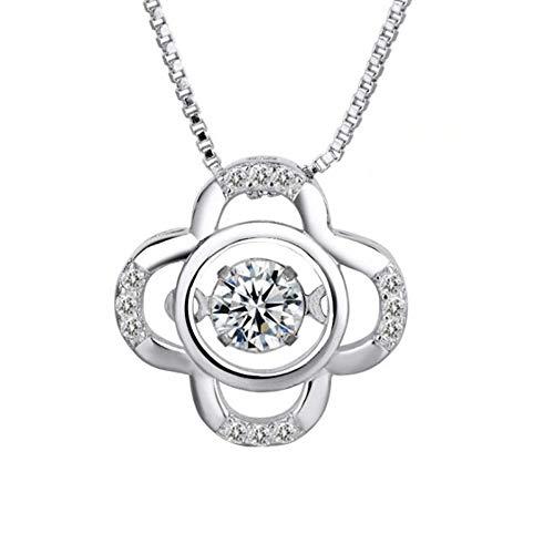 8674724f8584 Collares para Mujer WJsbxx 925 Colgantes del Corazón del Amor De La Plata  Esterlina para La Muchacha De Las Mujeres Dynamic Crystal Cz Collar De ...