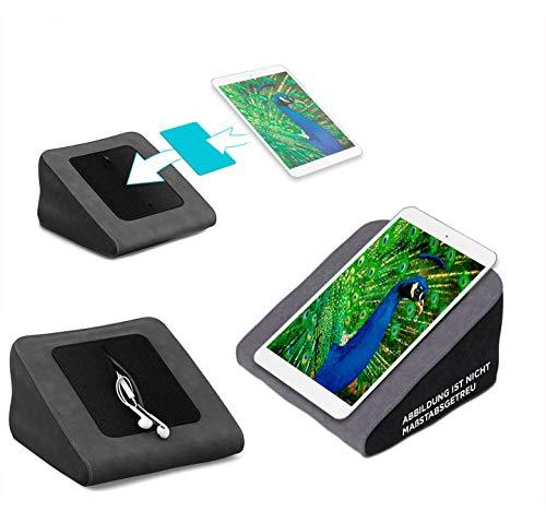 reboon Tablet Kissen für das Blaupunkt Polaris 808 - ideale iPad Halterung, Tablet Halter, eBook-Reader Halter für Bett & Couch
