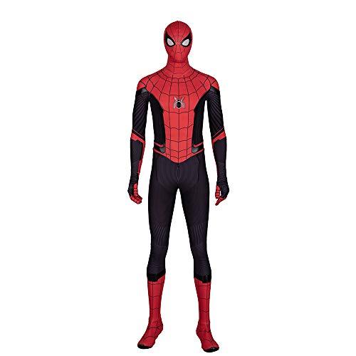 QWEASZER Spider-Man: Far from Home, Unisex Zentai Halloween Kostümparty Cosplay Kostüme Anzug Erwachsene/Kinder 3D Deluxe Edition,Spiderman-Custom Size (Custom Kind Kostüm)